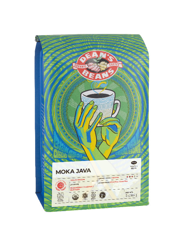 Moka Java Coffee - Front Label
