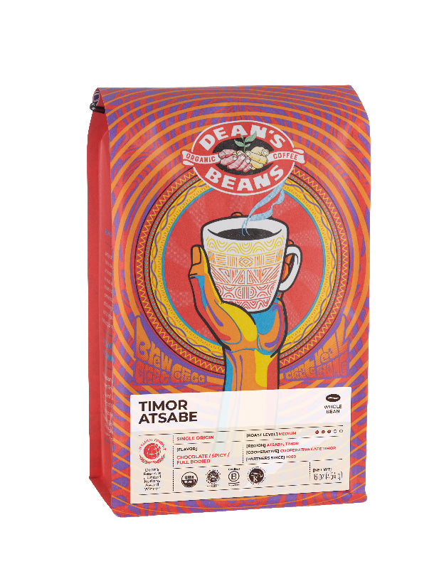 Timor Atsabe Coffee - Front Label