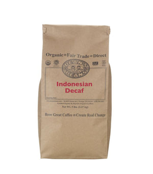 Indonesian Decaf green beans - 5 pound bag