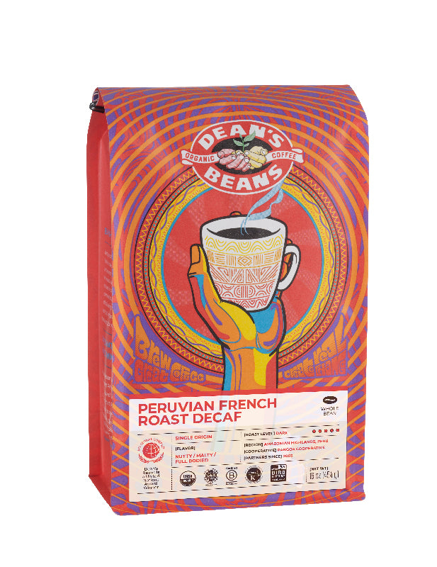 Peruvian French Roast Decaf - Front Label