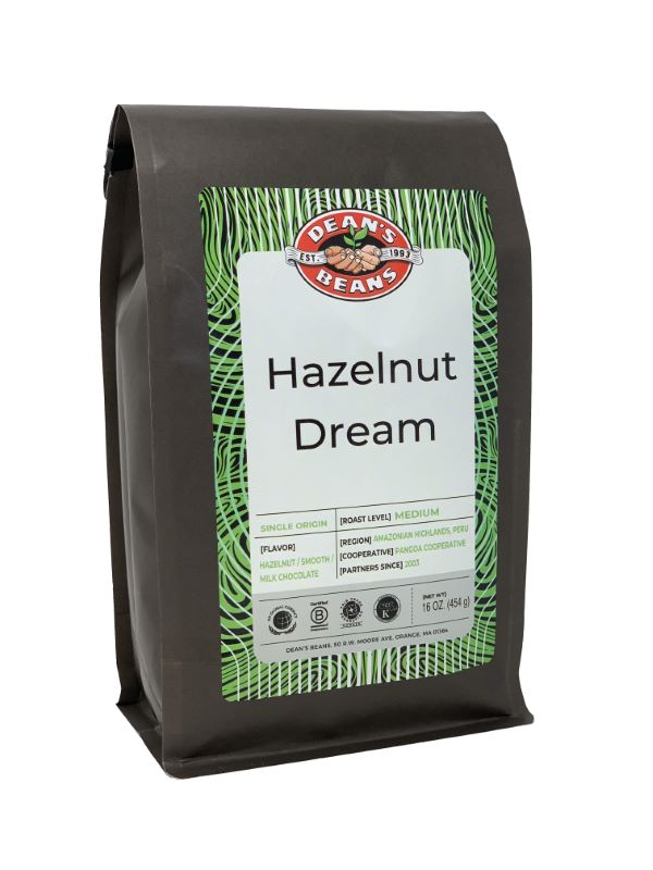 Hazelnut Dream Coffee - Front Label