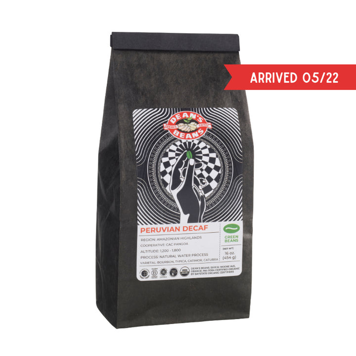 Organic Peruvian Green Coffee - Natural Water Process Decaf (Unroasted)