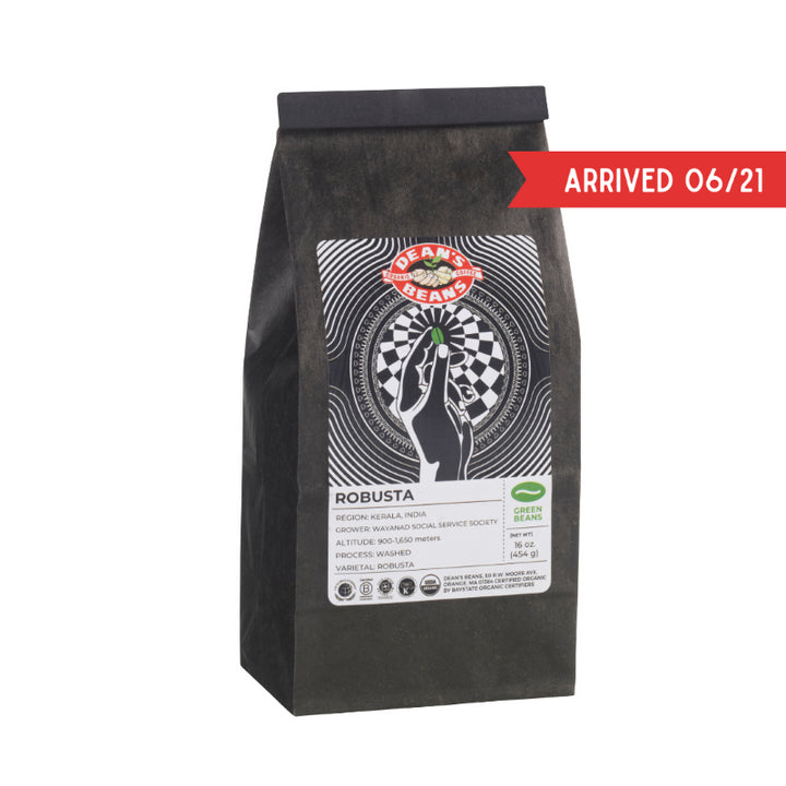 Organic Robusta Green Coffee (Unroasted)