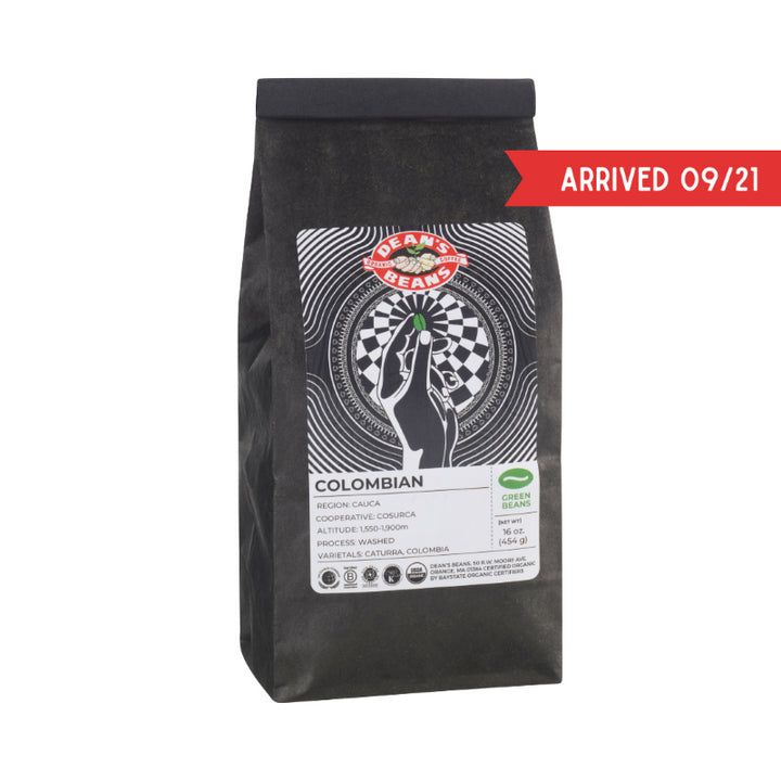 Organic Colombian Green Coffee (Unroasted)