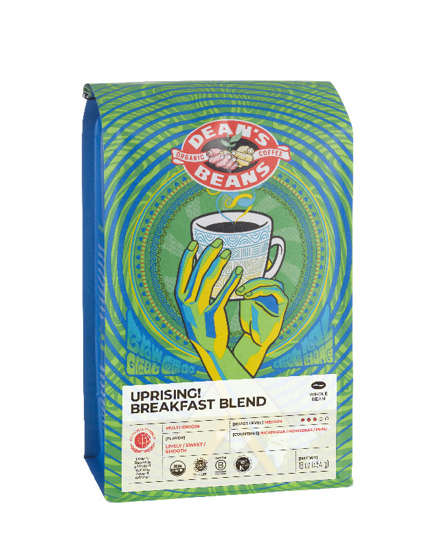 Uprising! Breakfast Blend Coffee - Front Label