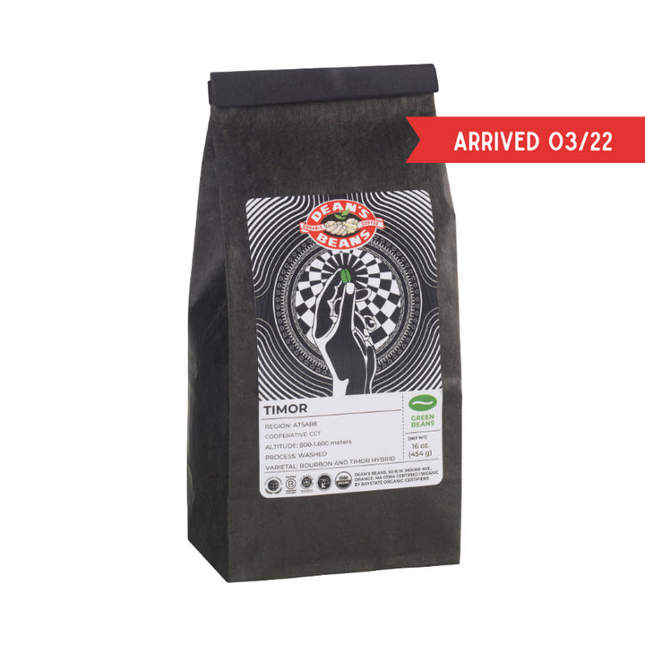 Organic Timor Green Coffee (Unroasted)
