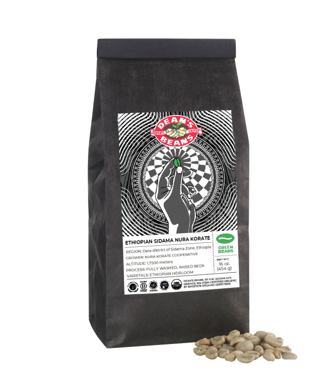 *Limited Edition* Organic Ethiopian Sidama Nura Korate Green Coffee (Unroasted)