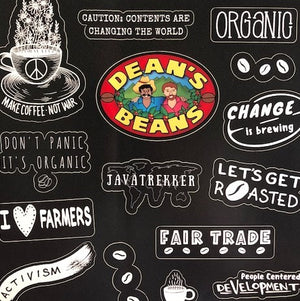 Dean's Beans Sticker Sheet