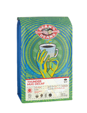 Thunder Mug Decaf Coffee - Front Label