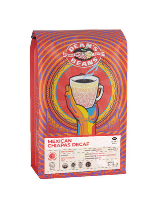 Mexican Chiapas Decaf Coffee - Front Label