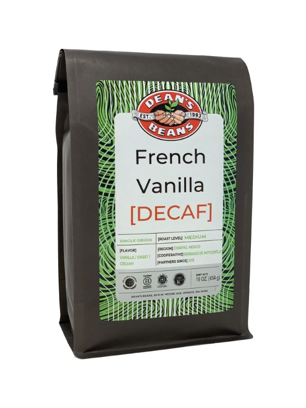 French Vanilla Kiss Decaf - Front Label