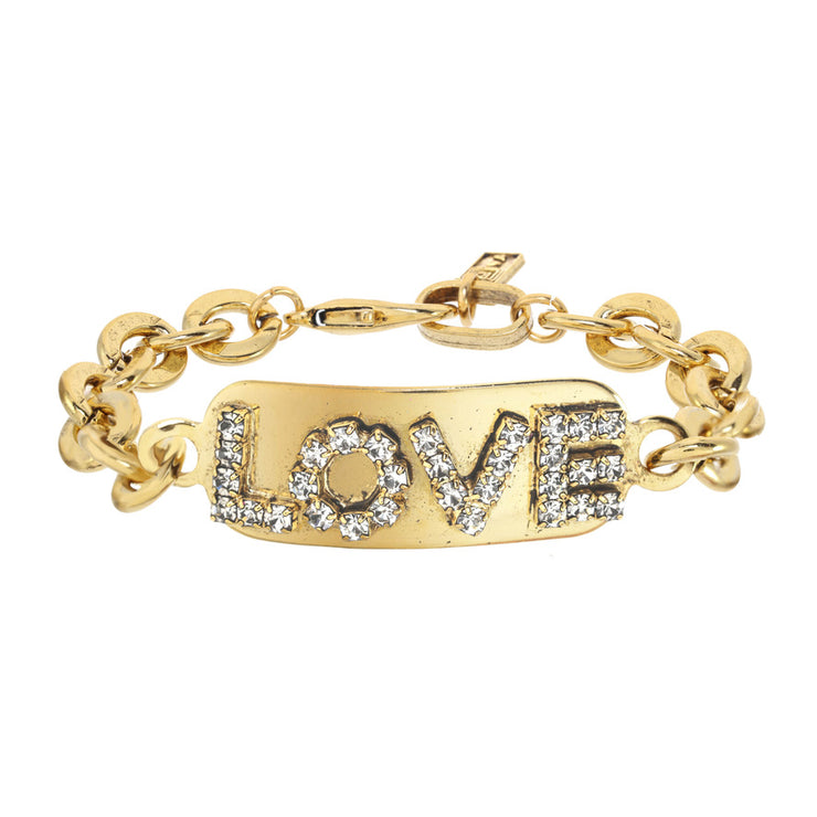 Love ID Antique Gold
