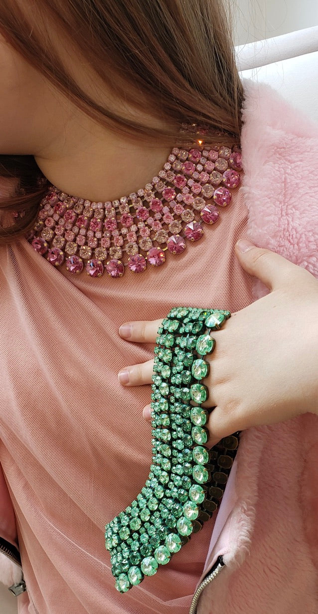 Light Pink Crystal Collar