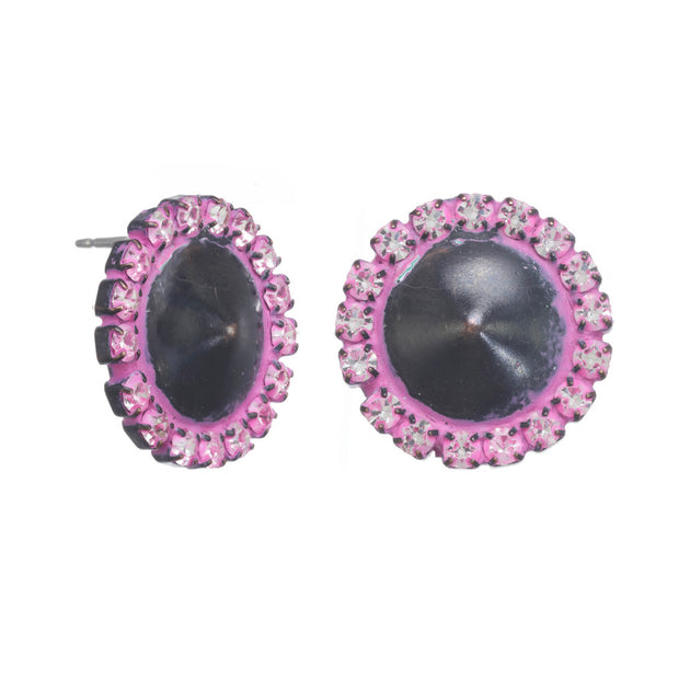 Button Studs Large - Hot Pink