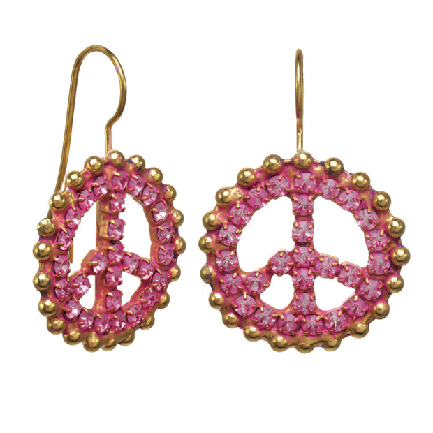 PEACE Out Ear - Gold/Hot Pink