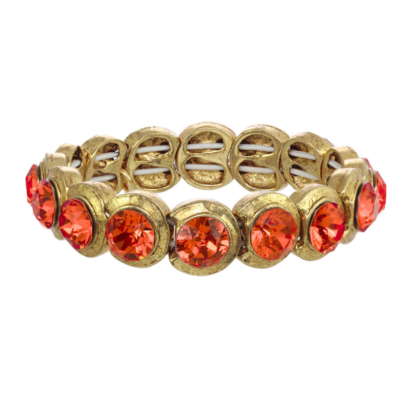 Crystal Stretch - Gold/ Padparadscha