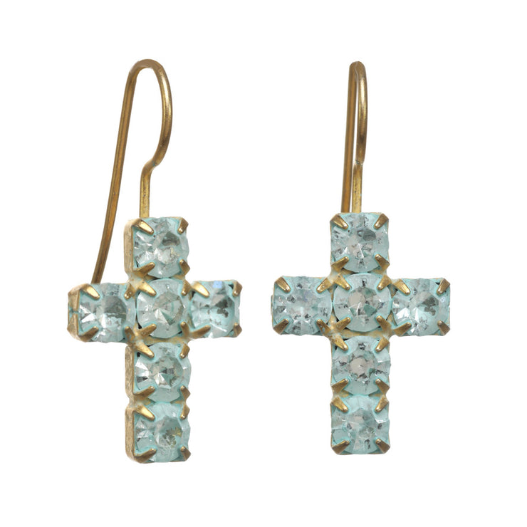 Cross Hook Ear Gold/Turquoise