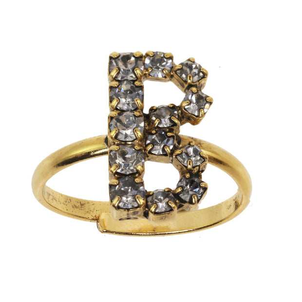 Alphabet Adjustable Ring - B