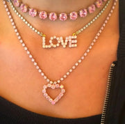 LOVE Marquee Necklace - Mint/Turquoise
