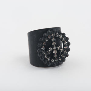 PEACE Out Ring in Black