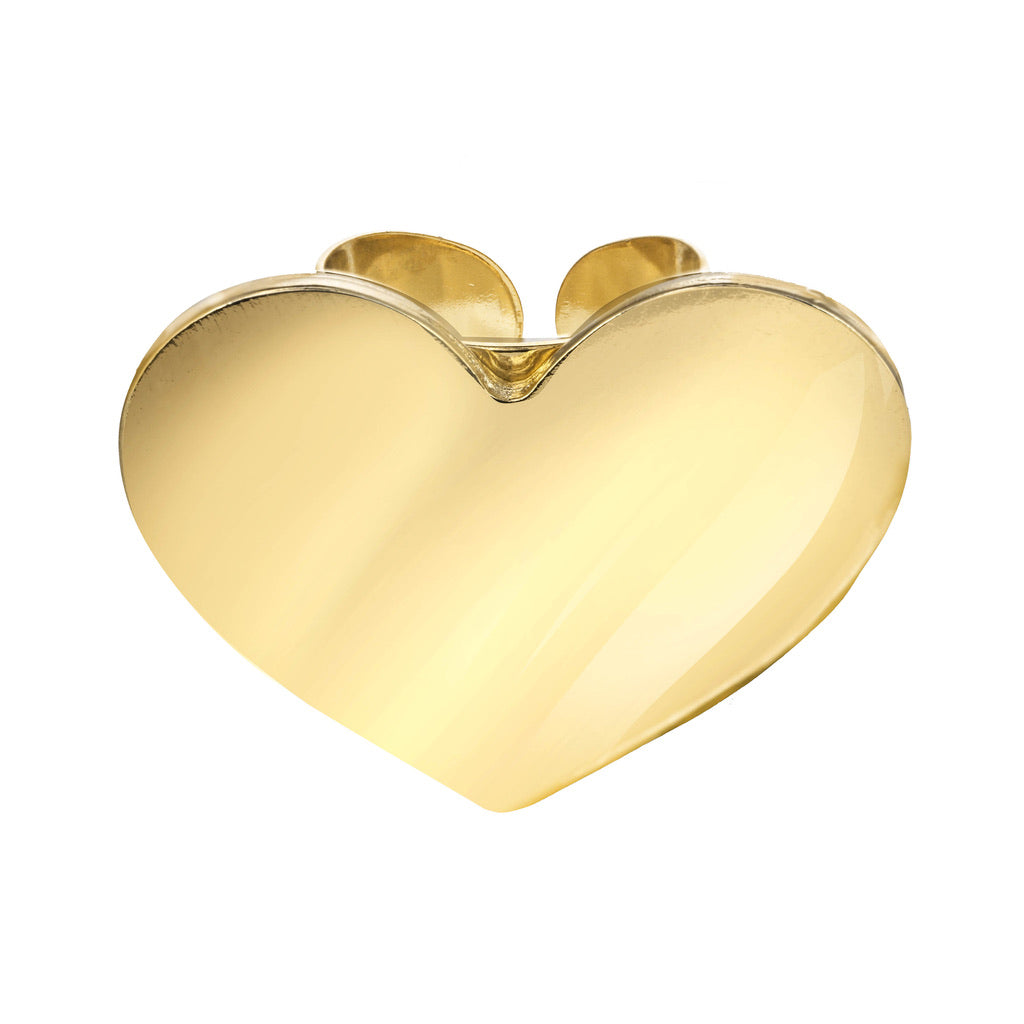 Big Gold Heart Ring