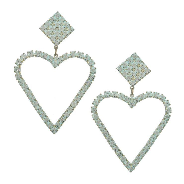Sweet Heart Earrings Turquoise