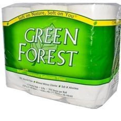 Green Forest Unscented Bathroom Tissue (8x12PK) Eco-Home