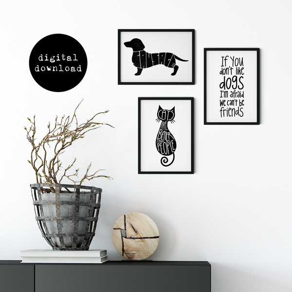 """If You Don't Like Dogs..."" A4 Printable Art (Digital Download Only)"