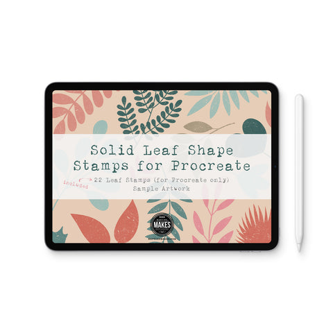 Solid Leaf Shape Stamps for Procreate