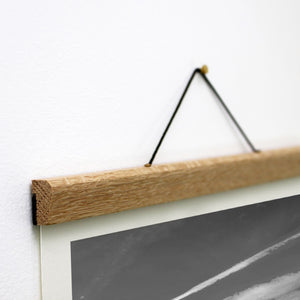 A4 and A3 Magnetic Wooden Poster Hanger for Prints