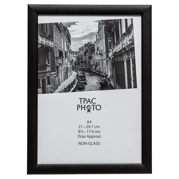 A4 Matte Black Frame for Prints (Non-Glass Front)