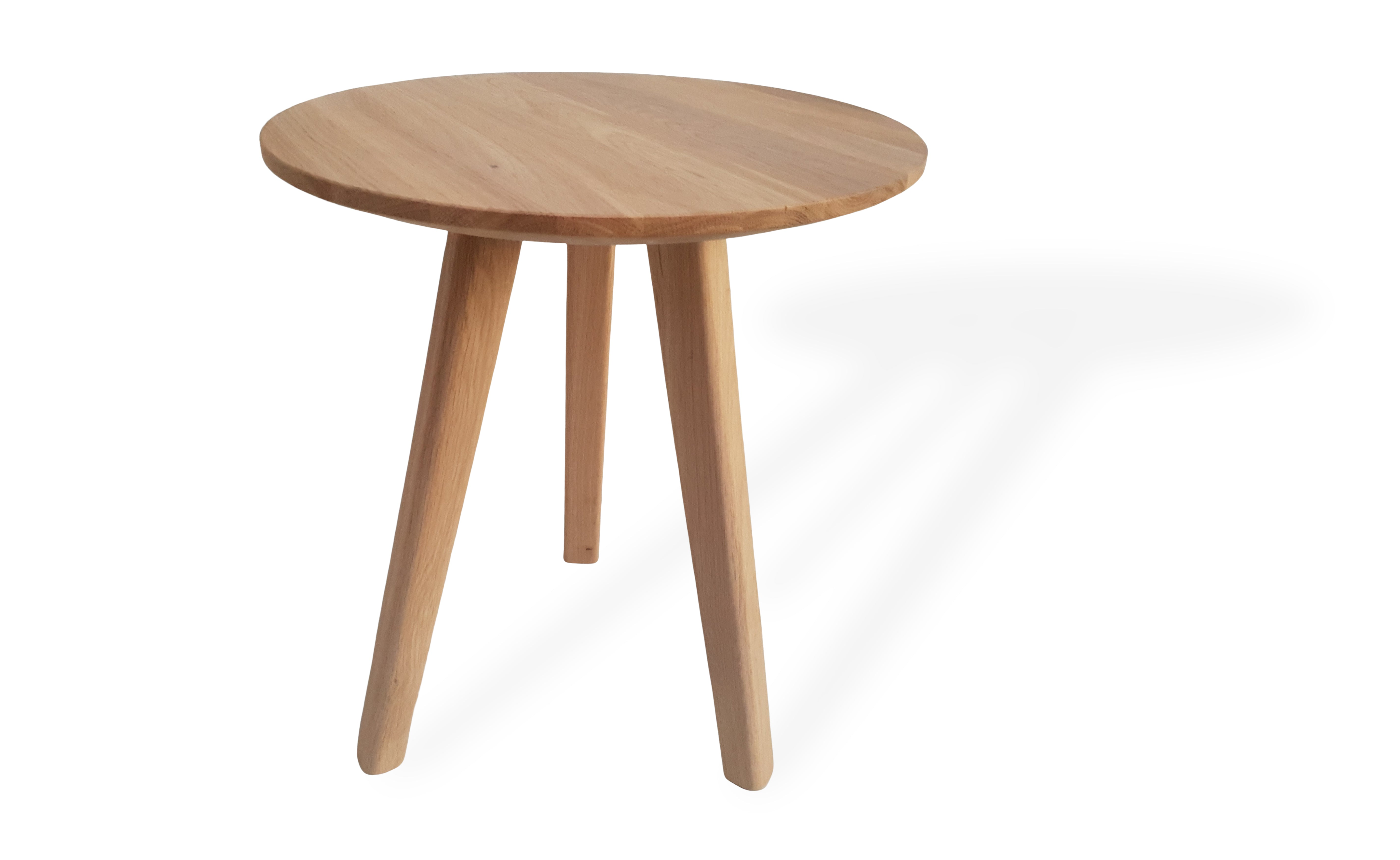 Mini coffee table, oak, model 450, Ø45