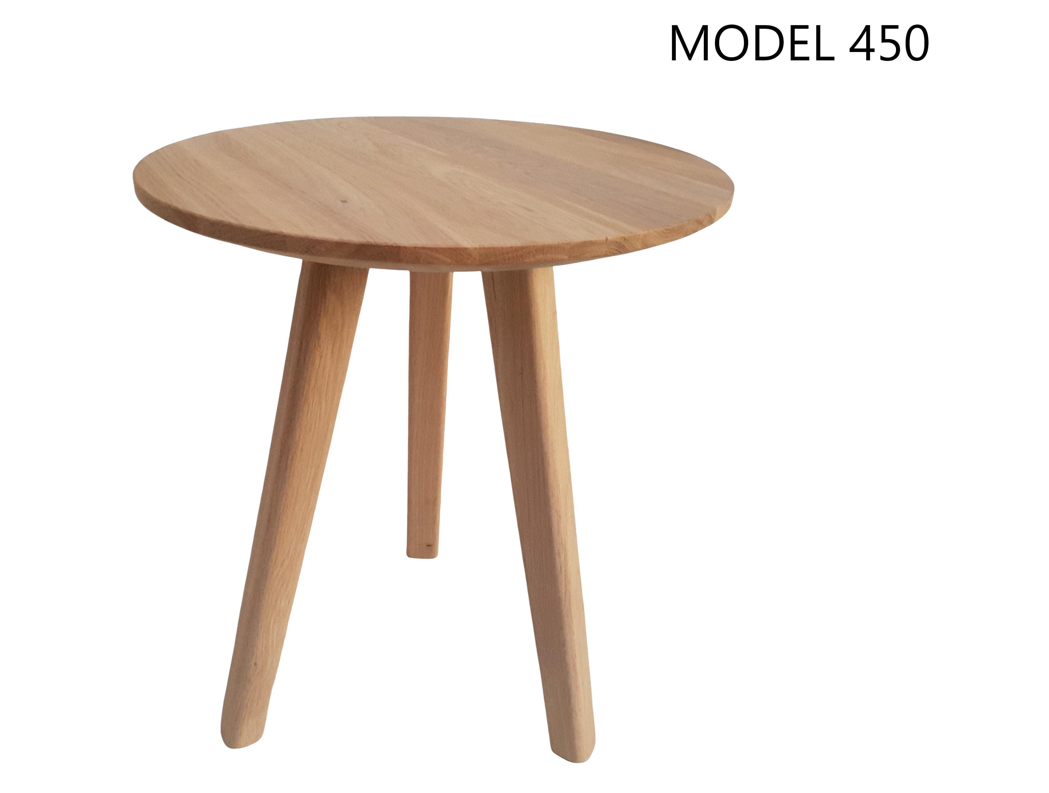 Mini coffee table, oak, model 450, Ø37cm