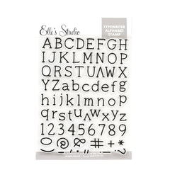 Typewriter Alphabet Stamp