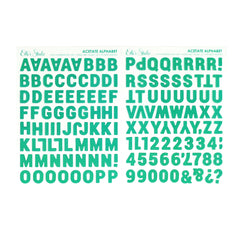 Teal Parker Acetate Alphabet Stickers