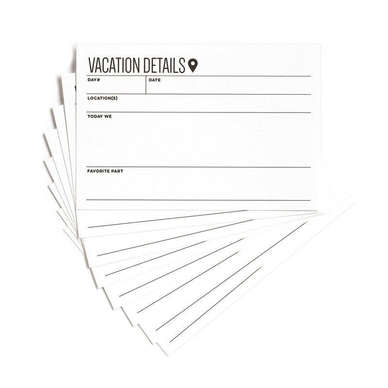 Vacation Details 4 x 6 inch Journaling Tags