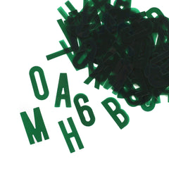 Green Acetate Alphabet