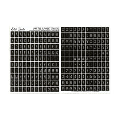 Jane Tile Alphabet Cardstock Stickers - Black