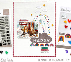 Happy Little Moments Chipboard Stickers