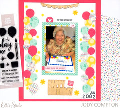 Happy Birthday Chipboard Stickers
