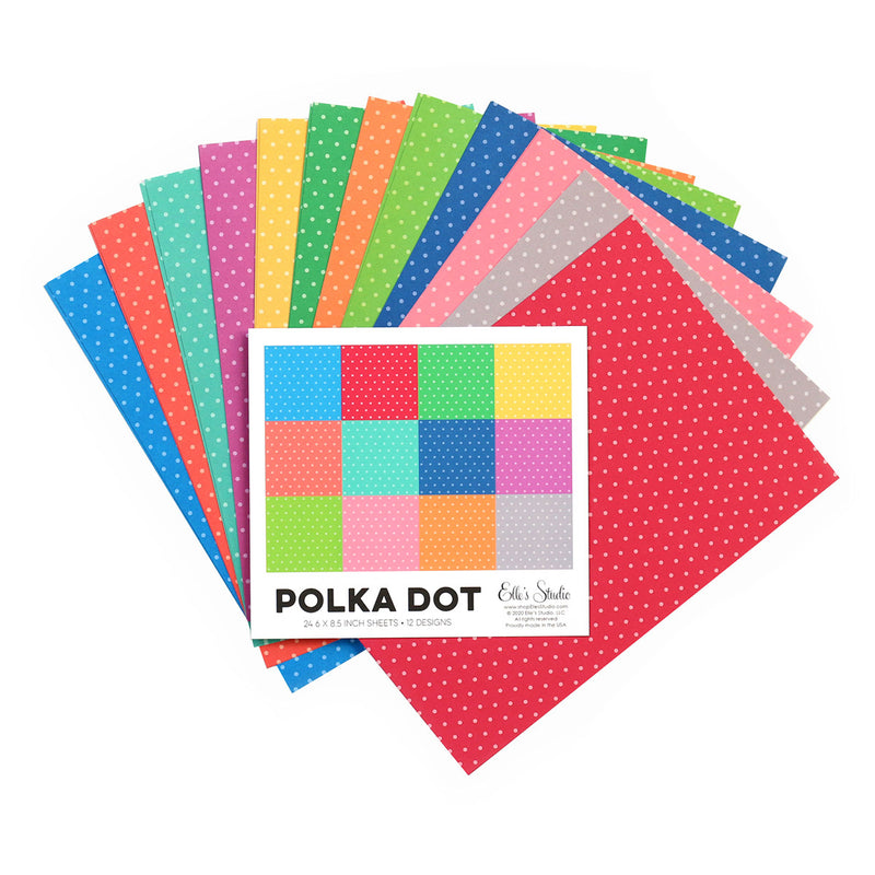 Bright Polka Dot 6 x 8.5 inch Paper Stack