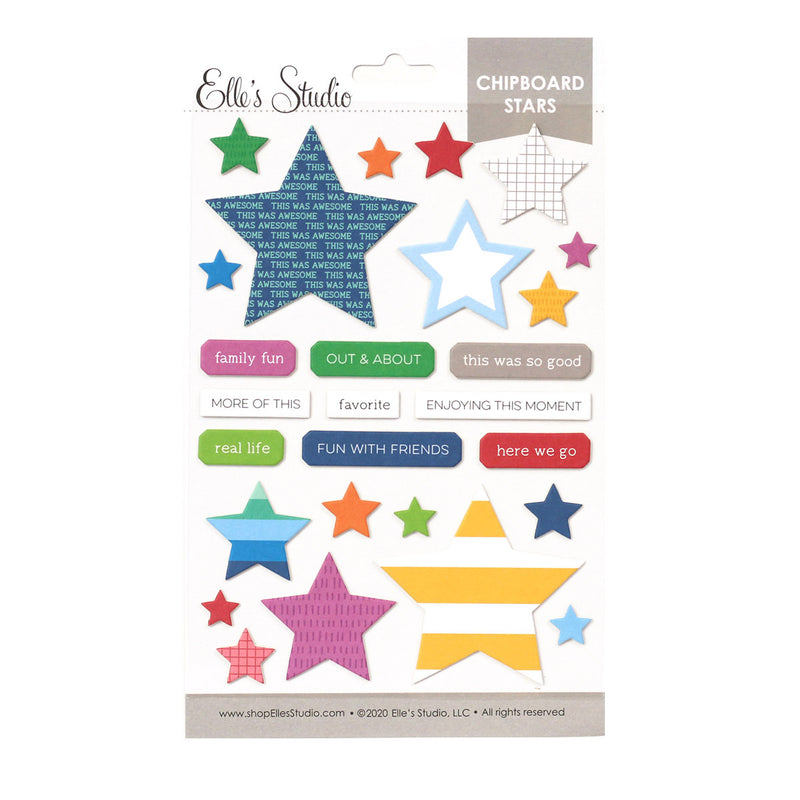 Chipboard Star Stickers