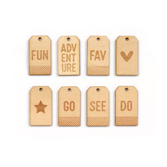 Wood Veneer Adventure Tags