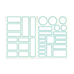 Light Teal Cardstock Label Stickers