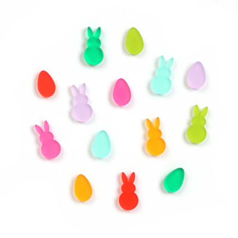 Tiny Acrylic Eggs and Bunnies