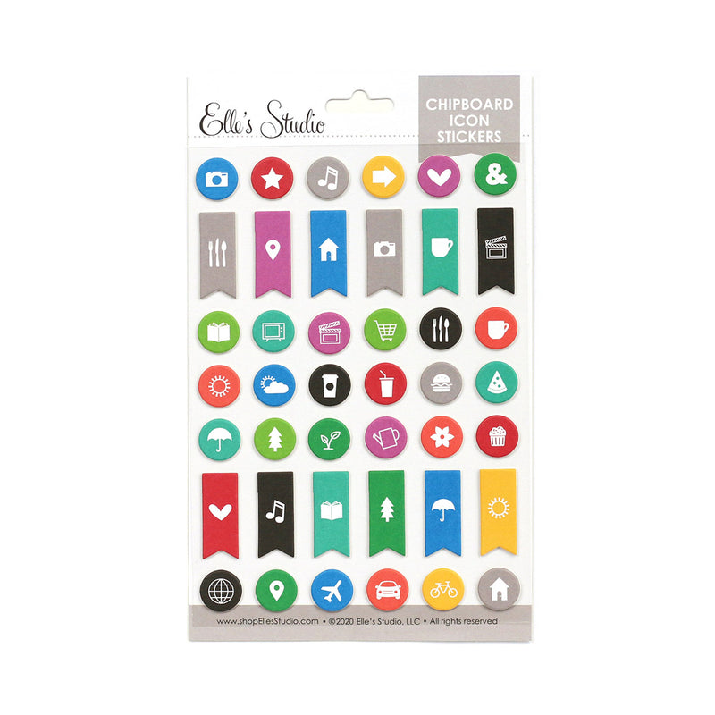 Icon Chipboard Stickers