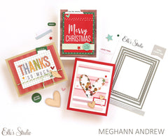 Merry Christmas Card Front Tags