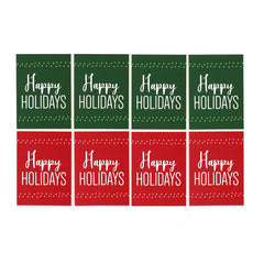 Happy Holidays Card Front Tags