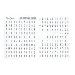 Jane Tile Alphabet Cardstock Stickers - White