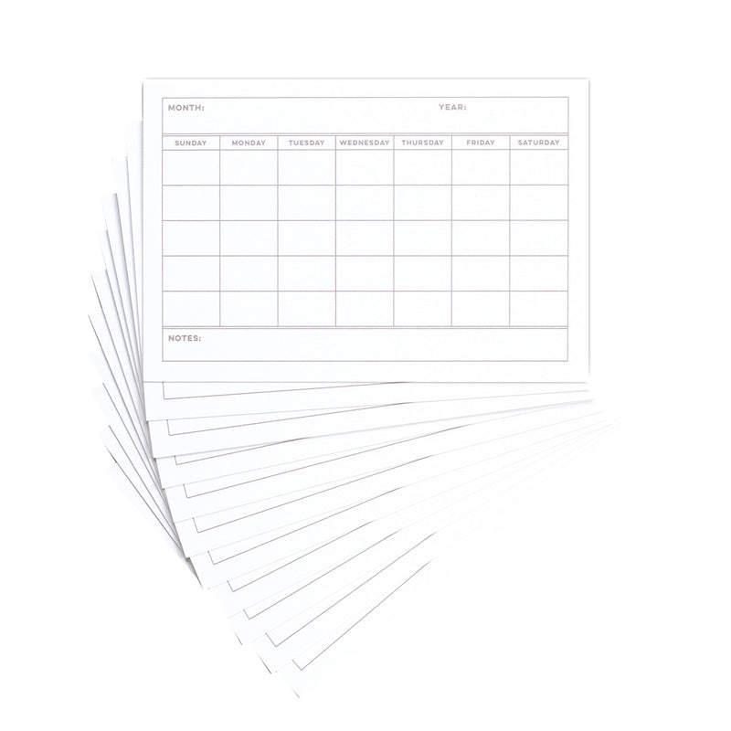 Calendar Templates 4 x 6 inch Journaling Tags